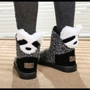 Ugg style Panda face boots